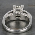Three-Row Pave Princess Diamond Engagement Ring (1.70 ct.) - small angle 4