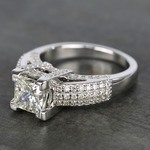 Three-Row Pave Princess Diamond Engagement Ring (1.70 ct.) - small angle 2