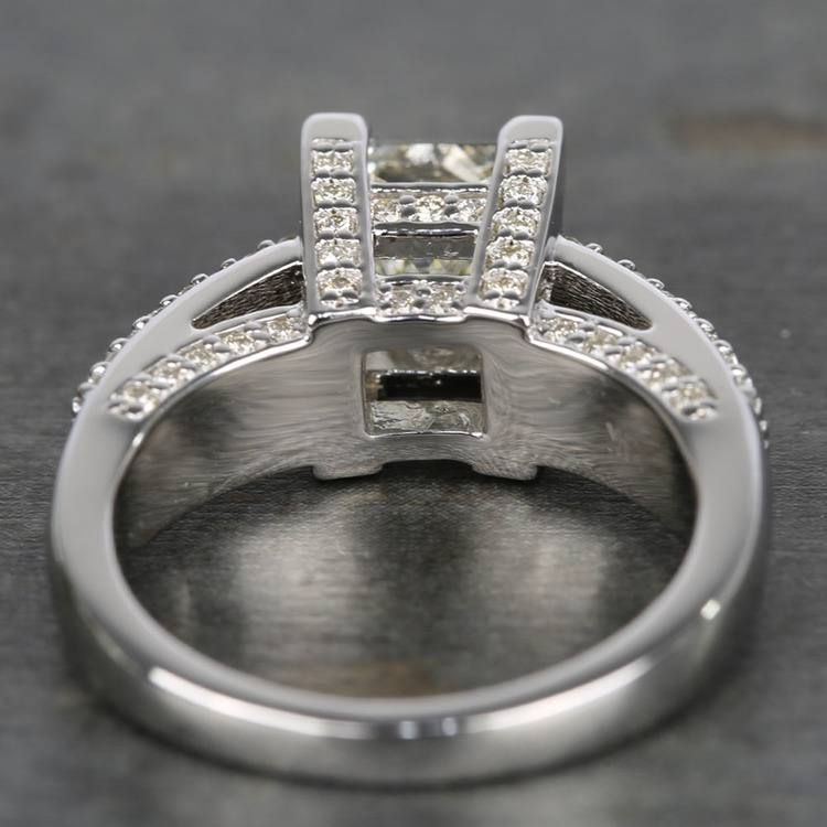 Three-Row Pave Princess Diamond Engagement Ring (1.70 ct.) angle 4