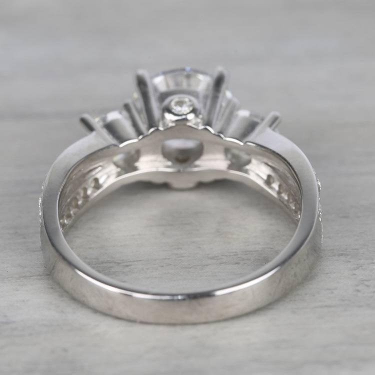 Three-Stone Split Shank Diamond Engagement Ring (1.50 Carat) angle 4