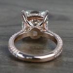 5.27 Carat Custom Cushion Diamond Engagement Ring in Rose Gold - small angle 4