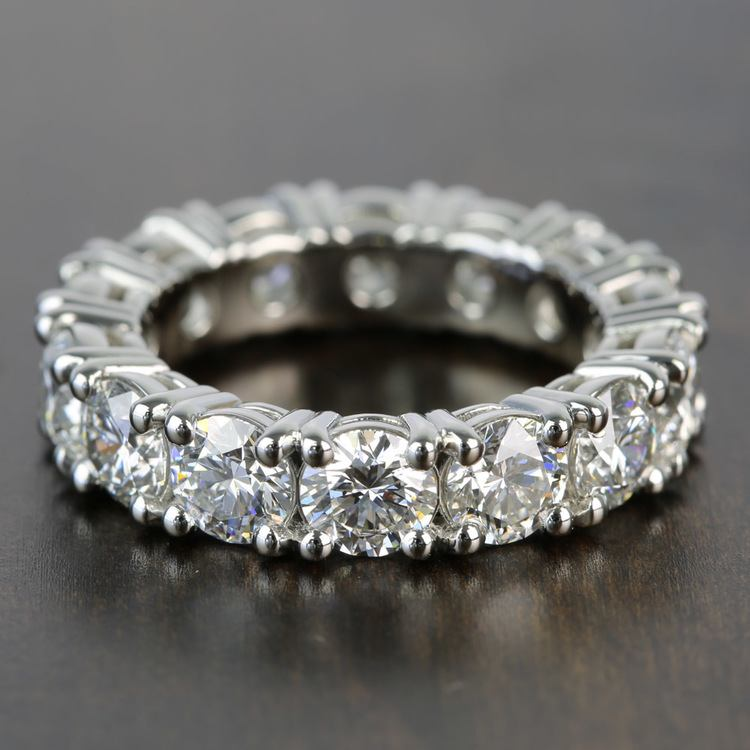 6.50 Carat Round GIA Diamond Eternity Band in Platinum