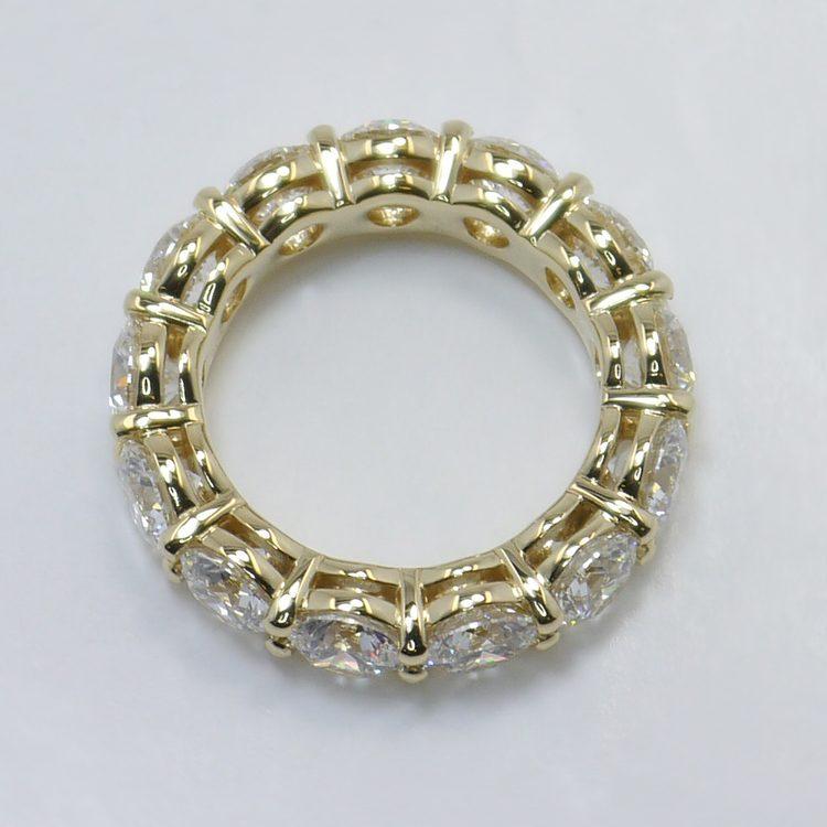 6.50 Carat Custom Round Diamond Eternity Band angle 2