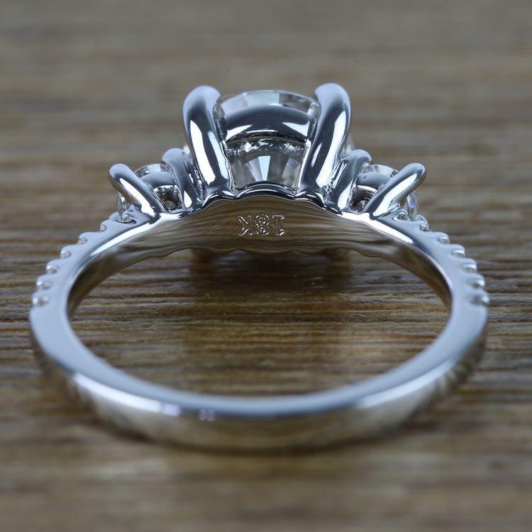 Three-Stone Round Moissanite Engagement Ring (2 Carat) angle 4