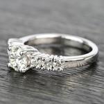 7-Stone Custom Round Diamond Engagement Ring - small angle 2