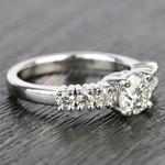 7-Stone Custom Round Diamond Engagement Ring - small angle 3