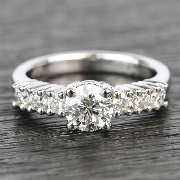 7-Stone Custom Round Diamond Engagement Ring