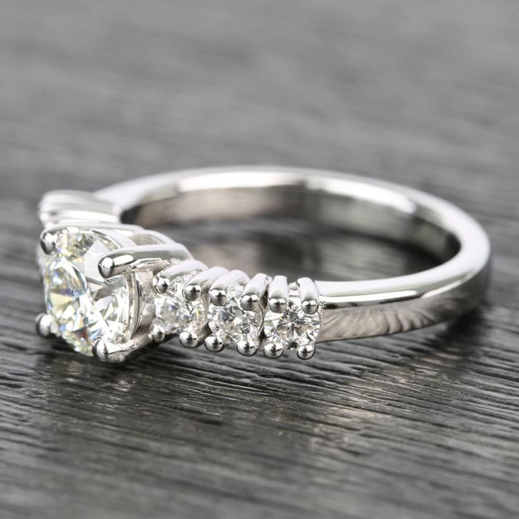 7-Stone Custom Round Diamond Engagement Ring angle 2