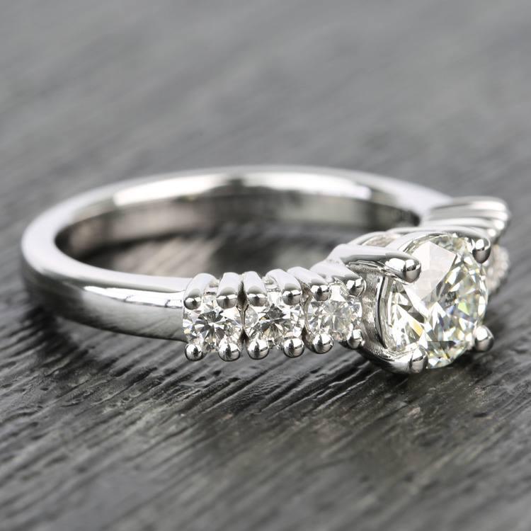 7-Stone Custom Round Diamond Engagement Ring angle 3