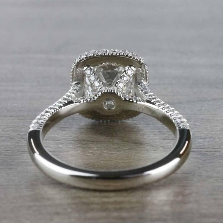 Sparkling 2 Carat Cushion Cut Diamond Ring With Diamond Halo angle 4