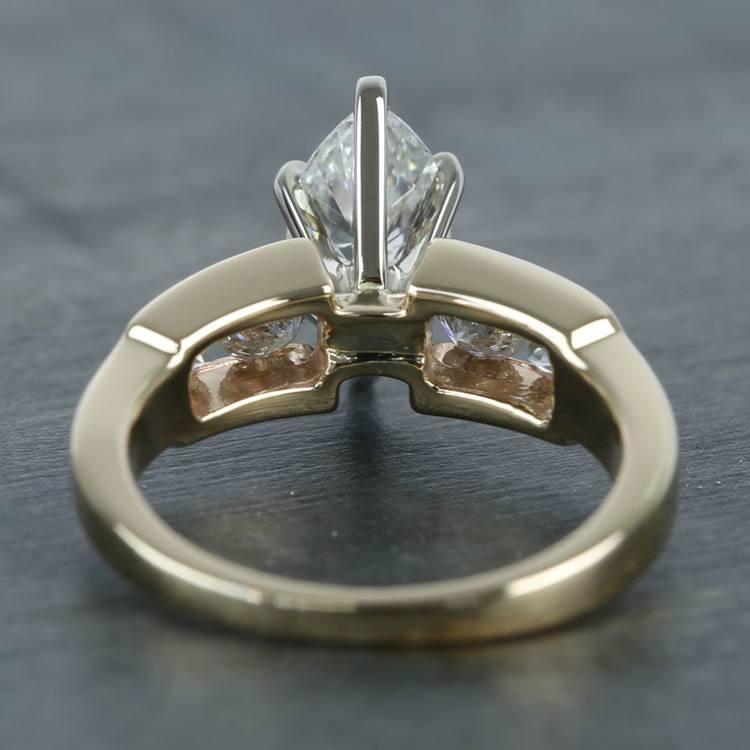Antique 1 Carat Custom Marquise Diamond Engagement Ring angle 4