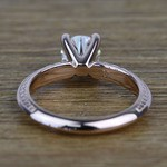 Antique Floral 0.92 Carat Round Knife Edge Diamond Engagement Ring - small angle 4