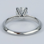 Antique Floral Knife Edge Diamond Engagement Ring (1 Carat) - small angle 4