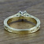 Antique Half Carat Heart Solitaire Diamond Engagement Ring - small angle 4