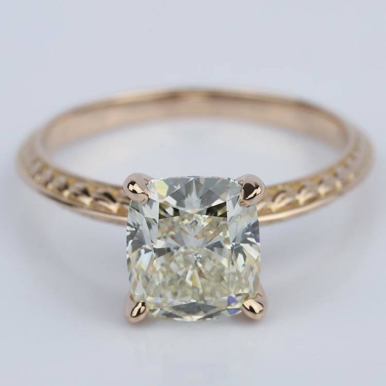 Antique Knife-Edge Cushion Diamond Engagement Ring (3 Carat)