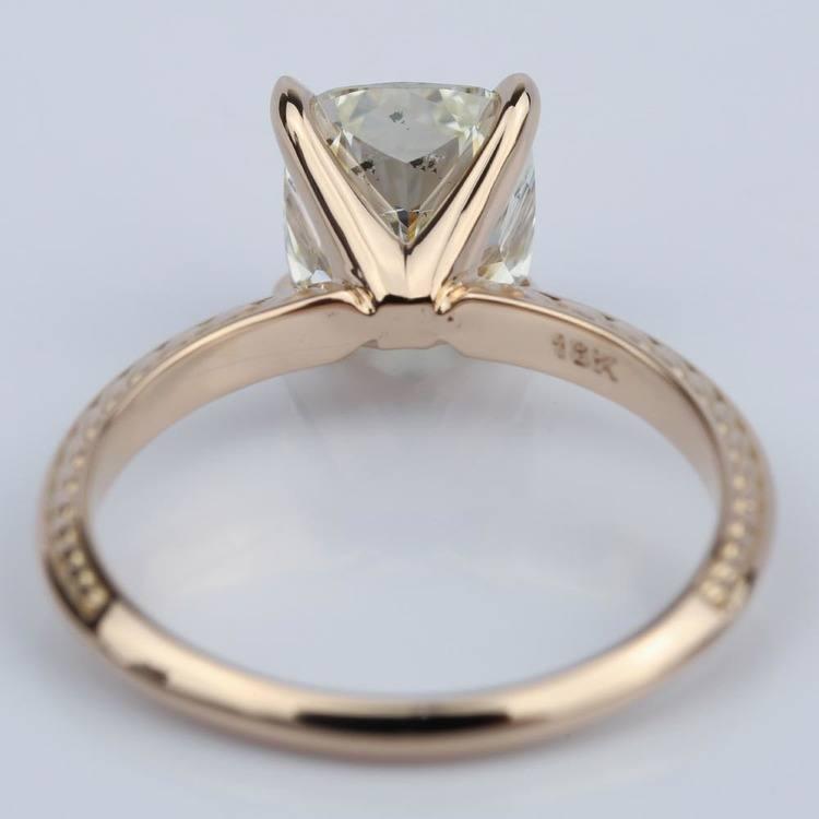 Antique Knife-Edge Cushion Diamond Engagement Ring (3 Carat) angle 4