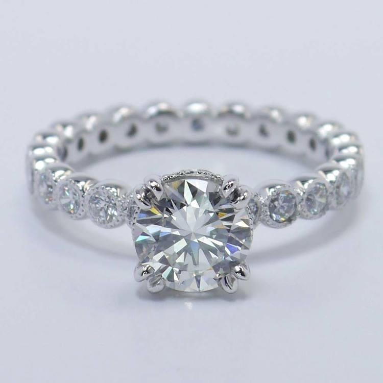 Round Diamond Antique Milgrain Bezel Ring (1 Carat)