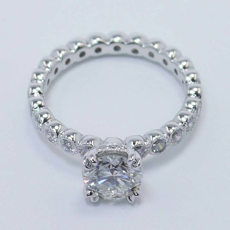 Round Diamond Antique Milgrain Bezel Ring (1 Carat) angle 2