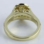 Antique Oval Diamond Engagement Ring in Yellow Gold - small angle 4