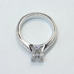 Antique Filigree 0.90 Carat Round Diamond Engagement Ring - small angle 4