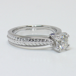 Antique Filigree 0.90 Carat Round Diamond Engagement Ring - small angle 3