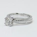 Antique Filigree 0.90 Carat Round Diamond Engagement Ring - small angle 2