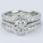 Antique Cushion Cut Diamond Bridal Ring Set - small