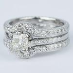 Antique Cushion Cut Diamond Bridal Ring Set - small angle 2