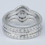 Antique Cushion Cut Diamond Bridal Ring Set - small angle 4