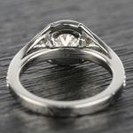 Art Deco Halo Round Diamond Engagement Ring (0.92 ct.) - small angle 4