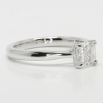 1 Carat Tapered Asscher Solitaire Diamond Engagement Ring - small angle 3