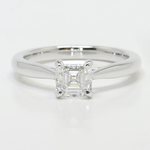 1 Carat Tapered Asscher Solitaire Diamond Engagement Ring - small