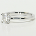 1 Carat Tapered Asscher Solitaire Diamond Engagement Ring - small angle 2
