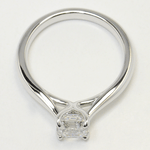 1 Carat Tapered Asscher Solitaire Diamond Engagement Ring - small angle 4