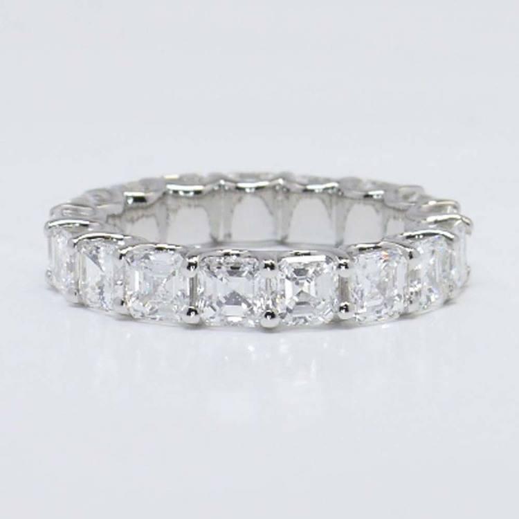 6 Carat U-Prong Asscher Diamond Eternity Band