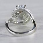 Beautiful Double Halo Swirling Diamond Engagement - small angle 4