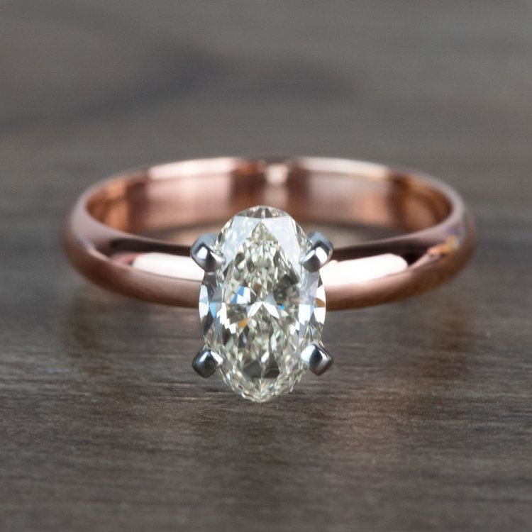Beautiful Oval Diamond Rose Gold Solitaire Engagement Ring