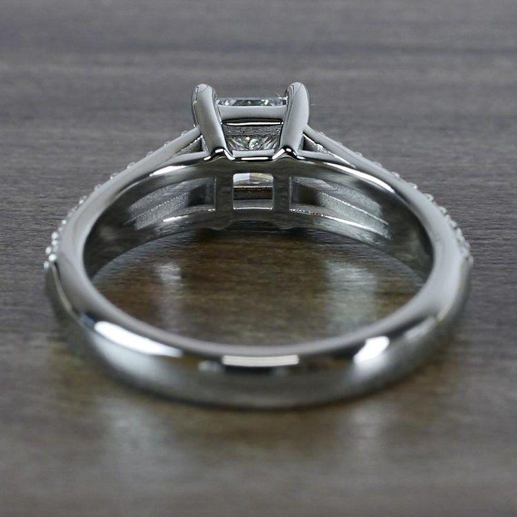 Beautiful Princess Cut Diamond Split Shank Diamond Engagement Ring angle 4