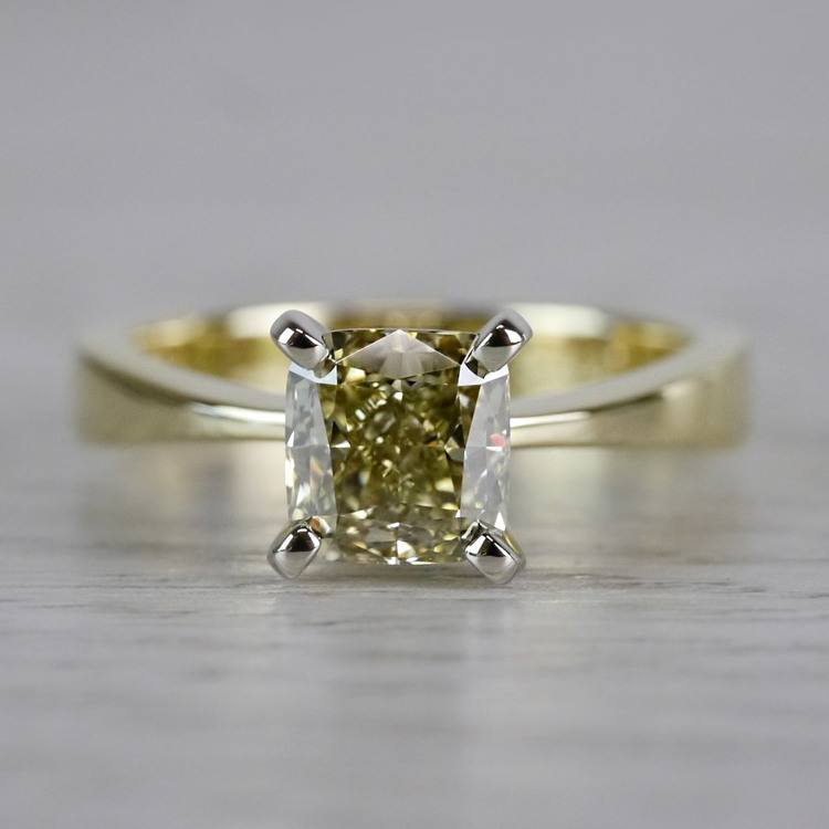 Beautifully Fancy Brown Diamond Solitaire Engagement Ring