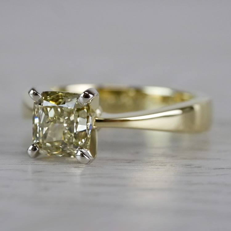 Beautifully Fancy Brown Diamond Solitaire Engagement Ring angle 2