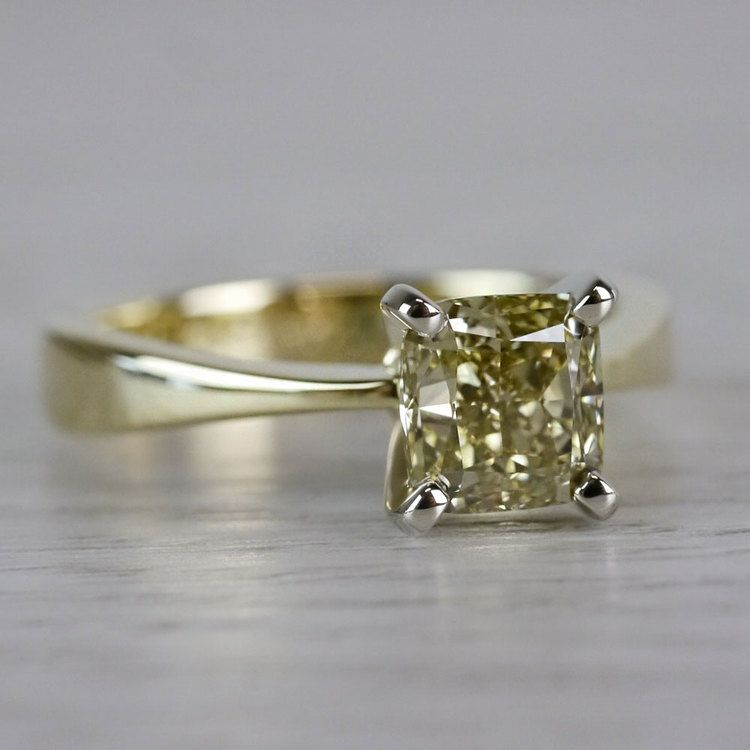 Beautifully Fancy Brown Diamond Solitaire Engagement Ring angle 3