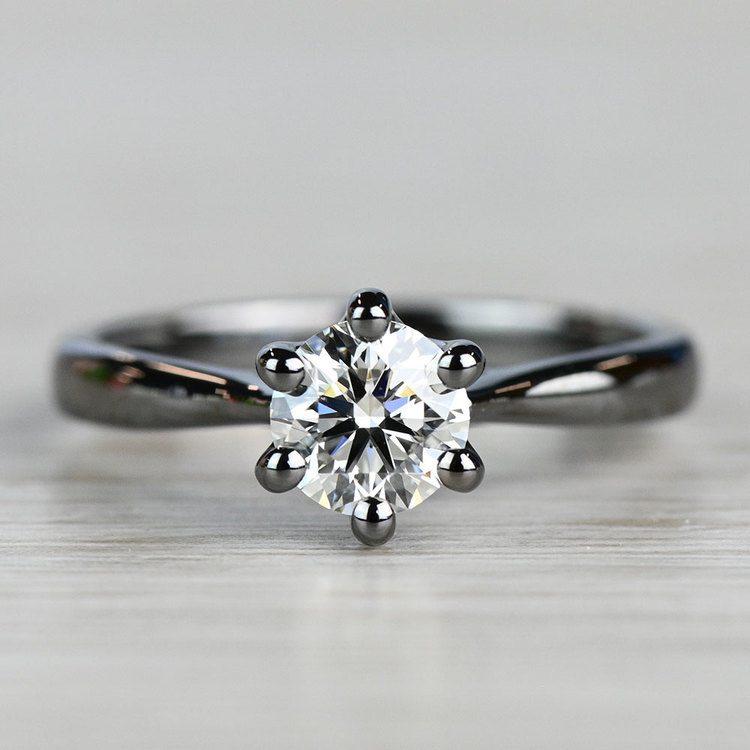 Black Gold Lotus Engagement Ring