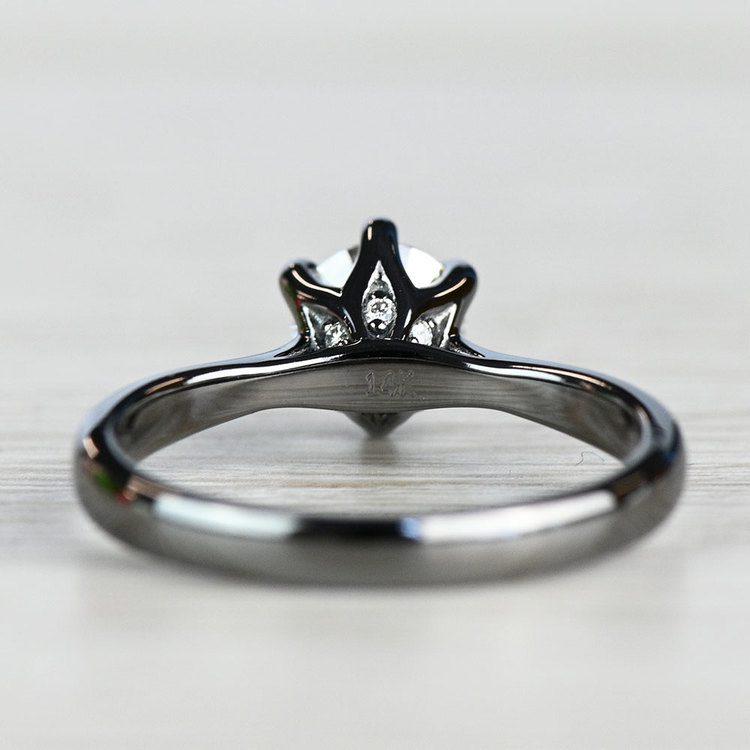 Black Gold Lotus Engagement Ring  angle 4