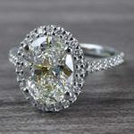 Blinding Oval Cut 3 Carat Diamond Ring - small angle 2