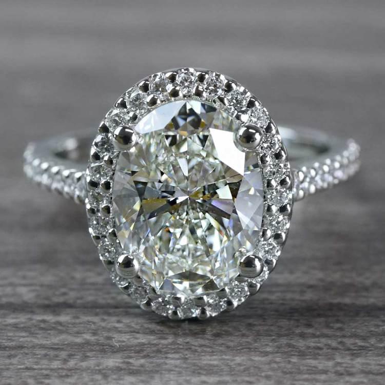 Blinding Oval Cut 3 Carat Diamond Ring