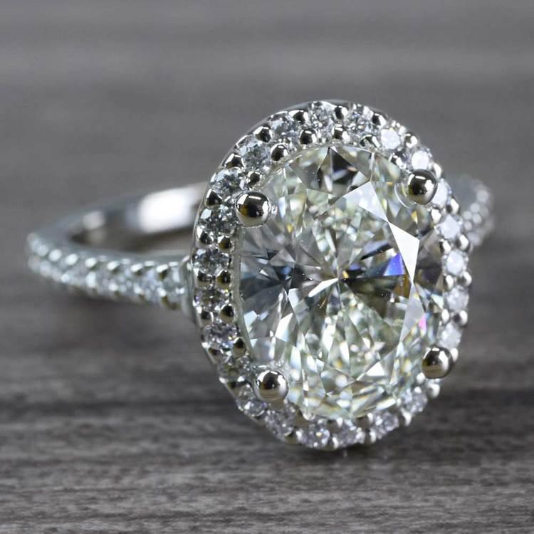 Blinding Oval Cut 3 Carat Diamond Ring angle 3