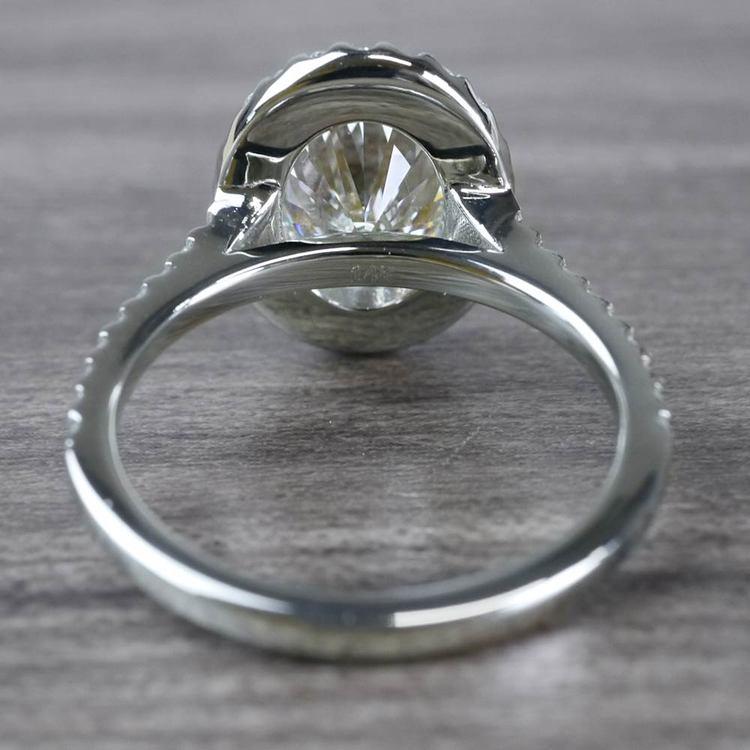 Blinding Oval Cut 3 Carat Diamond Ring angle 4