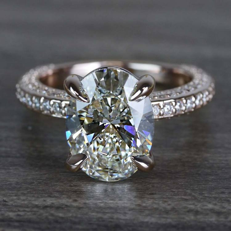 Breathtaking Oval Cut 3 Carat Diamond Ring