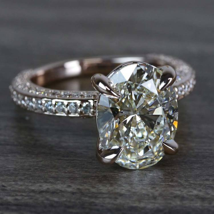 Breathtaking Oval Cut 3 Carat Diamond Ring angle 3