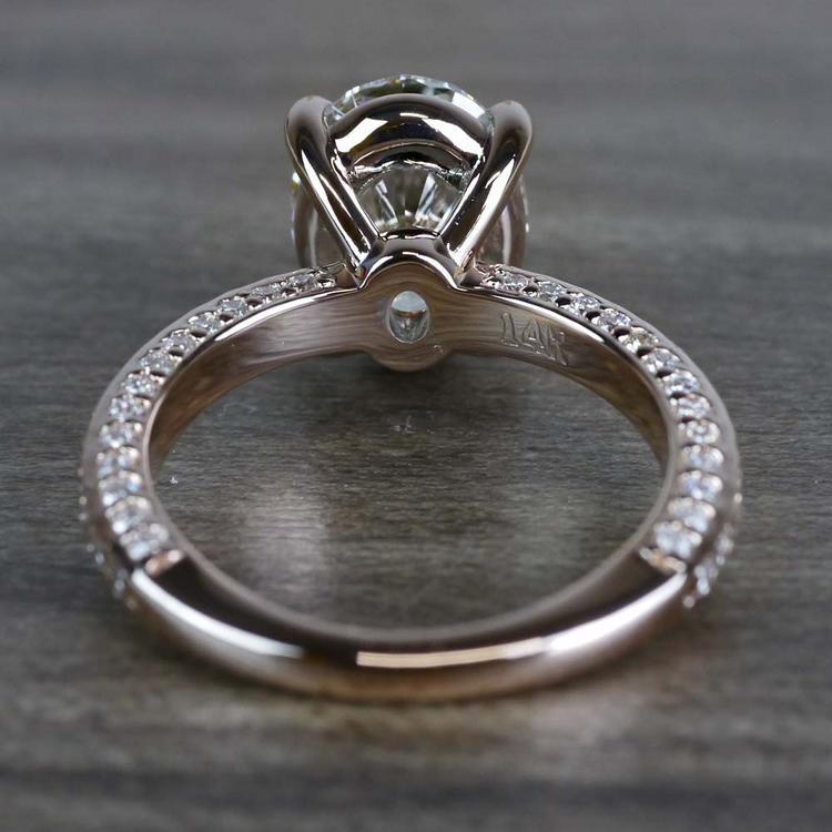 Breathtaking Oval Cut 3 Carat Diamond Ring angle 4